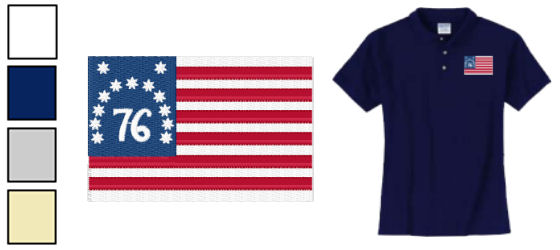 Bennington Flag Polo and T-Shirts