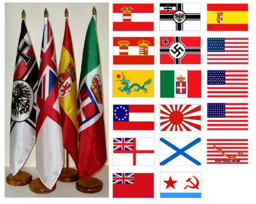 12x18 Historic Naval Ensigns