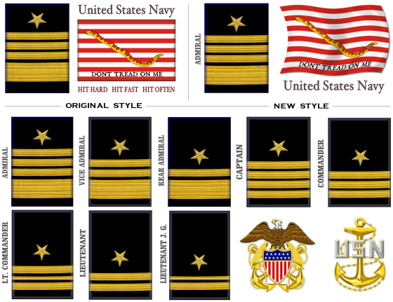 Exceptional USN First Navy Jack Rank Mugs
