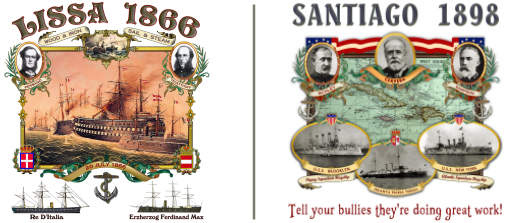 New Battle of Lissa and Battle of Santiago shirts