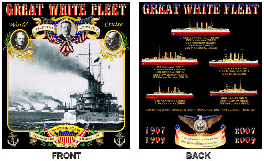 Great White Fleet Shirt Front/Back Images
