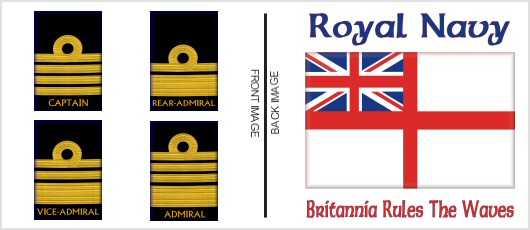 Royal Navy Rank Shirts