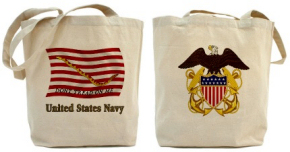US Navy First Navy Jack Tote Bag
